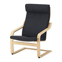 Кресло, березовый шпон, Хэллад антрацит IKEA POÄNG 191.977.75