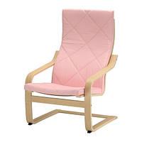 Кресло, березовый шпон, Эдум розовый IKEA POÄNG 491.499.81