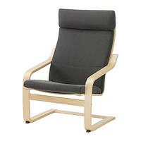 Кресло, березовый шпон, Финнста серый IKEA POÄNG 990.904.50