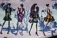 Ткань французкий трикотаж девочки , фото 1