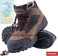Ботинки с термостойкой подошвой кожаные рабочие унисекс REIS Польша (спецобувь, рабочая обувь) BCH