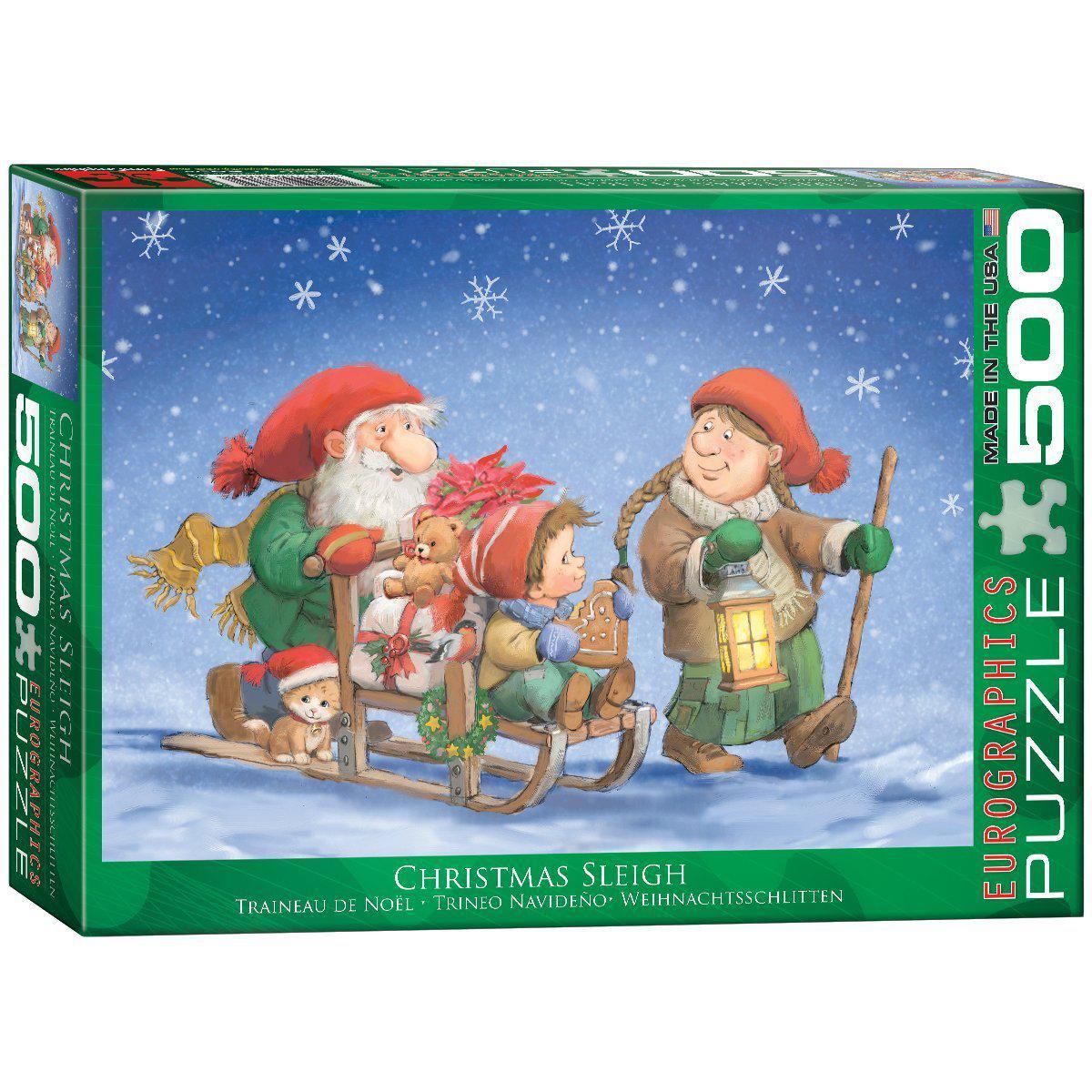 "Пазл ""Рождественские сани"" 500 элементов EuroGraphics (6500-0353)"