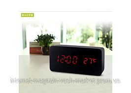 Настольные часы с красной подсветкой VST-862-1