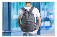 Рюкзак трансформер  карманный рюкзак серый