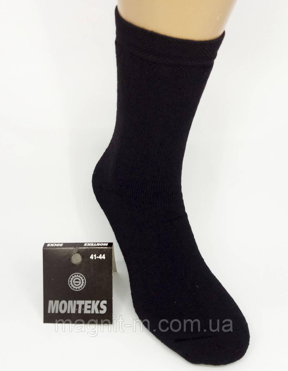 """Носки мужские махровые """"MONTEKS"""". Черные. 001М."""