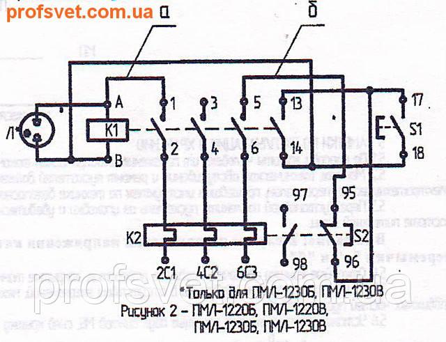 сканування схема електрична пускача пмл-1230 в корпусі