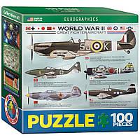 """Пазл """"Самолеты 2-й Мировой войны"""" 100 элементов EuroGraphics (8104-0559)"""