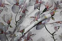 Ткань жаккард не стрейч, плотный цветы , фото 1