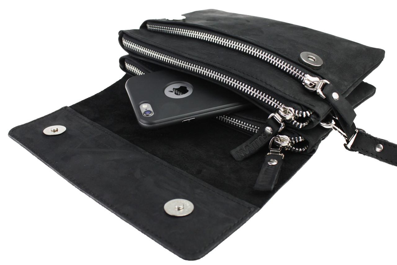 0a4b7030215e Сумка мужская маленькая барсетка клатч SULLIVAN smmbk2(32) черная ...