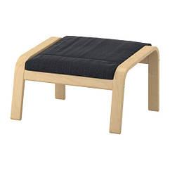 Табурет для ног, березовый шпон, Хэллад антрацит IKEA POÄNG 591.978.63