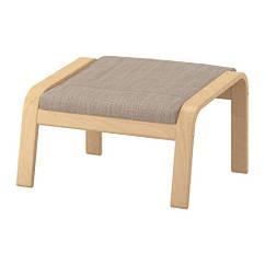 Табурет для ног, березовый шпон, Бежевый IKEA POÄNG 991.978.37