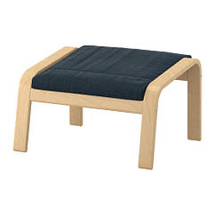 Табурет для ног, березовый шпон, Сине-голубой IKEA POÄNG 291.978.88