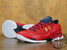 Мужские кроссовки реплика Under Armour Curry 2 Low Gym Red/Navy White, фото 3