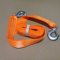 Трос буксировочный 3т. 50мм. 4,5м. С-крюк, Polyester, оранжевый,