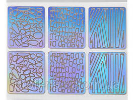 Трафареты для дизайна на липкой основе K-015