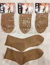 Капроновые носочки с двойной пяткой ™Кена бежевые 100 den