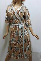 """Комплект женский халат и ночная рубашка на тонкой бретельке, """"Горячее сердце"""", размер от 48 до 54, Харьков, фото 2"""