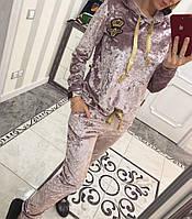 Шикарный велюровый костюм Вивьен ( нежно розовый), фото 1