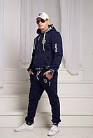"""Теплый мужской спортивный костюм трехнить с начесом """"Philipp Plein"""" размеры:42,44,46"""