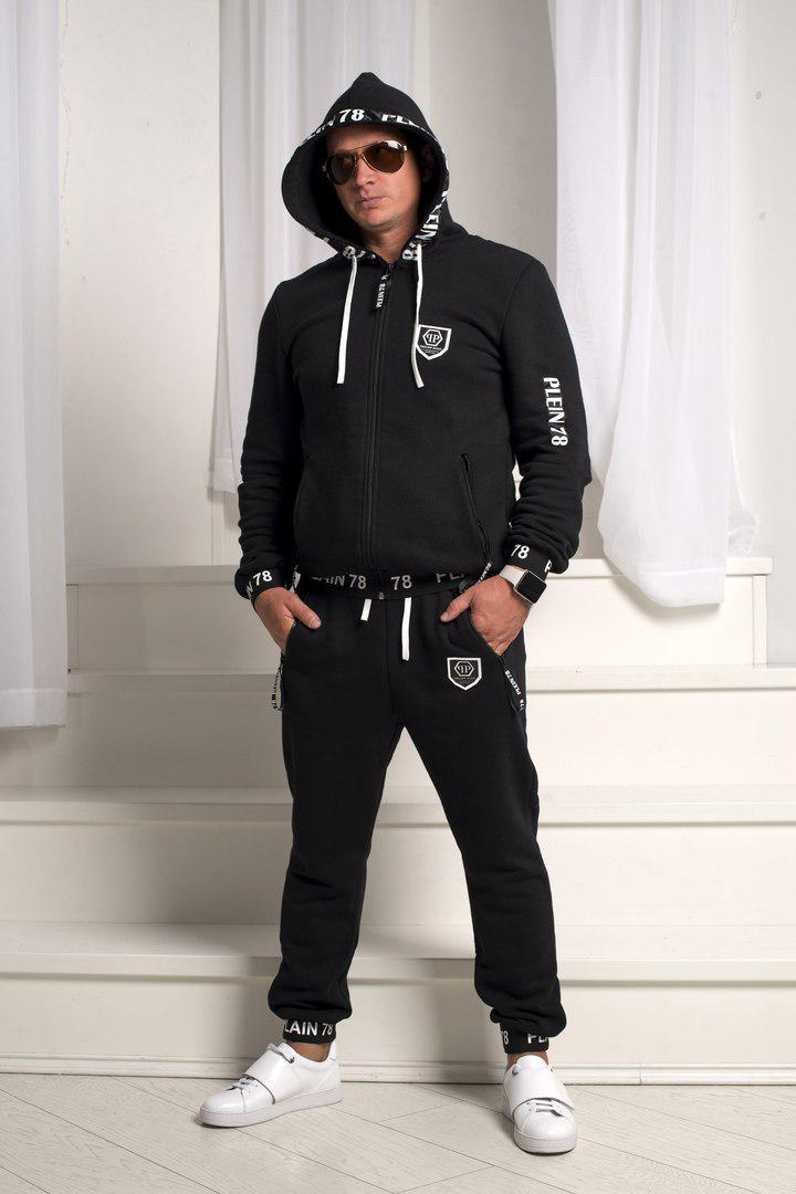 febc69fb Теплый мужской спортивный костюм трехнить с начесом