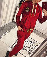 Шикарный велюровый костюм Вивьен ( красный), фото 1