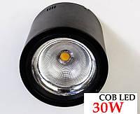 Накладной светодиодный светильник COB LED 30W 4000K черный