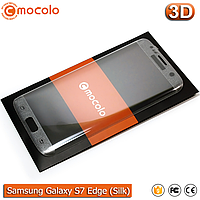 Защитное стекло Mocolo Samsung Galaxy S7 Edge 3D (Silk Silver), фото 1
