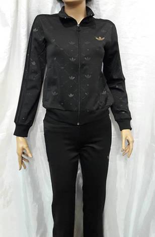 Костюм женский спортивный  черный Adidas, фото 2
