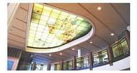 Потолок из закаленного стекла триплекс. многослойное стекло на жидком полимере