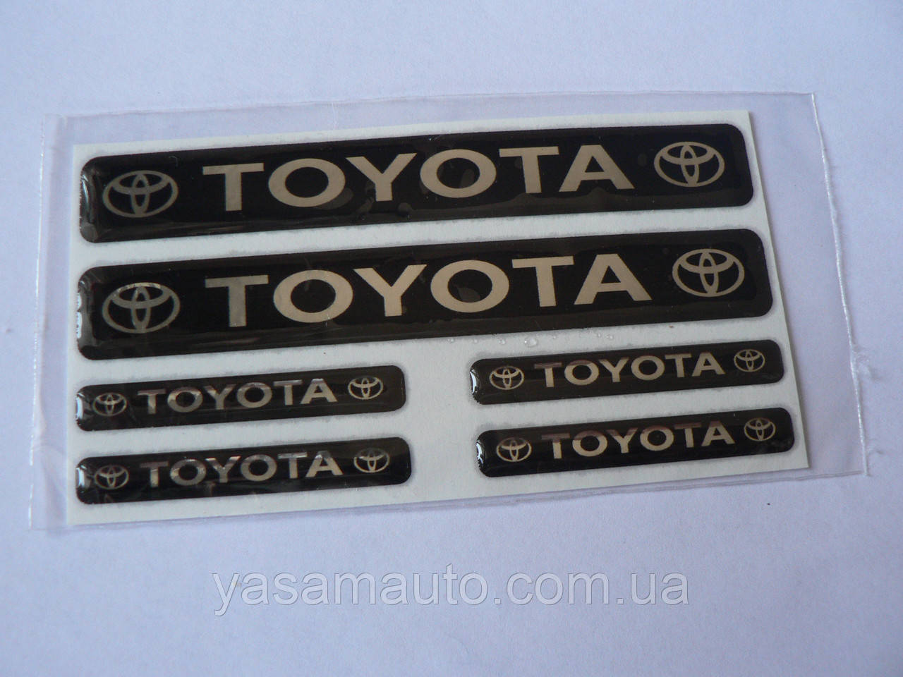 Наклейка s маленькая Toyota набор 6шт силиконовая надпись на авто эмблема Тойота