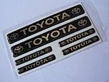 Наклейка s маленькая Toyota набор 6шт силиконовая надпись на авто эмблема Тойота, фото 3
