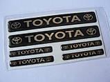 Наклейка s маленькая Toyota набор 6шт силиконовая надпись на авто эмблема Тойота, фото 5