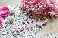 Тесьма помпоны розовая  (d помпона 18мм)