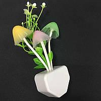 Ночник разноцветный грибы пандоры + цветы EU plug, фото 1