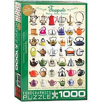 """Пазл """"Чайники"""" 1000 элементов EuroGraphics (6000-0599)"""