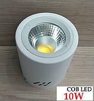 Накладний світильник світлодіодний COB LED 10W 4000K білий, фото 1