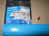 Лампа LED безцокольная панель приборов, подсветки кнопок Т5-02 (1SMD) W2,0 х4,6d красная 12V (Tempest). tmp-30T5-12V