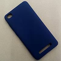 Матовый синий чехол для Xiaomi Redmi 4a