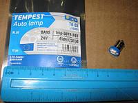 Лампа LED габарит, посветка панели приборов T8-03 (1LED) BA9S синий 24 Volt(Tempest). tmp-30T8-24V