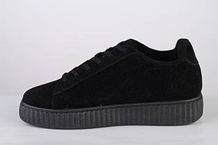 fc231833ffaf Женские черные криперы (кроссовки, ботинки) в стиле Пумы Рианны Puma  Rihanna замшевые,