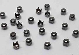 Декоративные крабик 3,5 мм ( темный никель )