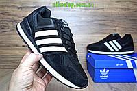Кроссовки Adidas NEO черные с белым
