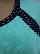 Трикотажная пижама с брюками на манжетах. Размеры от 46 до 52, фото 2
