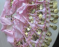 Платок для восточных танцев розовый