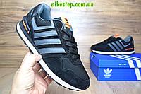 Кроссовки Adidas NEO черные с оранжевым