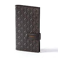 Черное портмоне из натуральной кожи