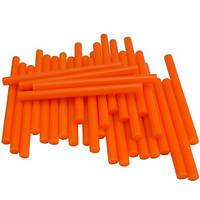 Термоклей, тонкий диам.-7мм, длина - 100мм, оранжевый