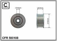 Ролик натяжной ремня приводного MI ASX, Lancer, Outlander 08- (CAFFARO). 500188