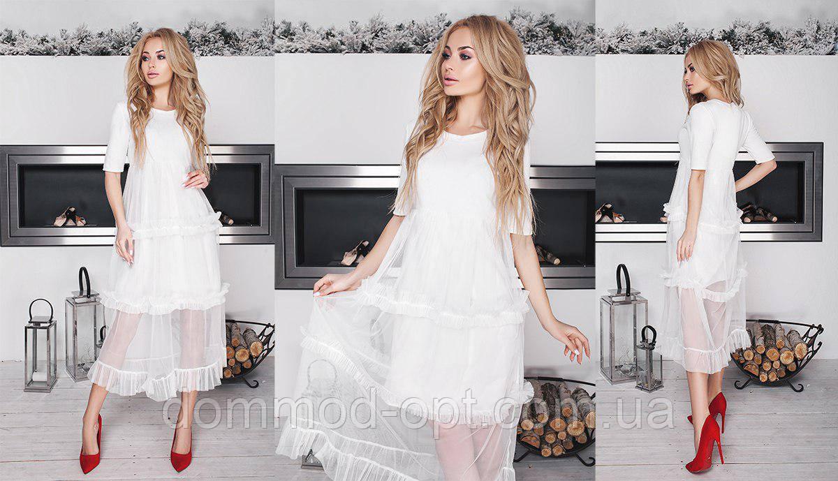 f2fc40cbc04 Женское платье с фатином 156 в расцветках - Дом Мод в Одессе