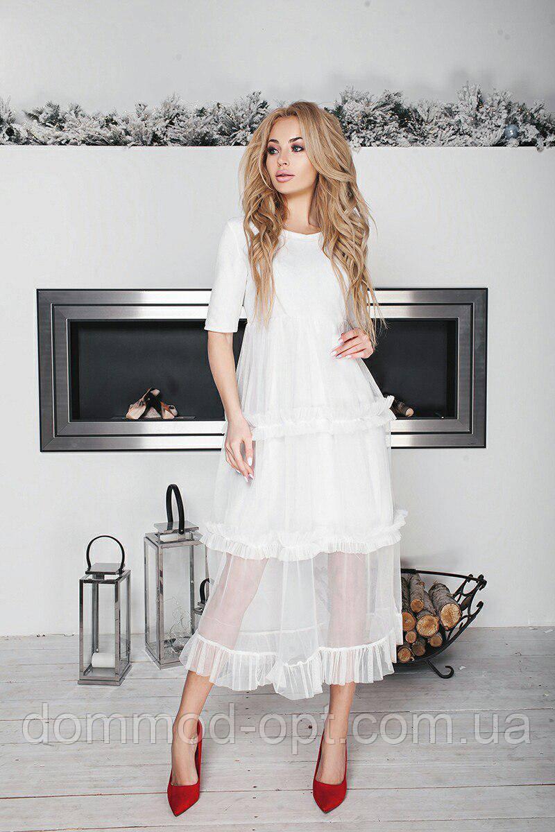 62a4fa446d6 Женское платье с фатином 156 в расцветках